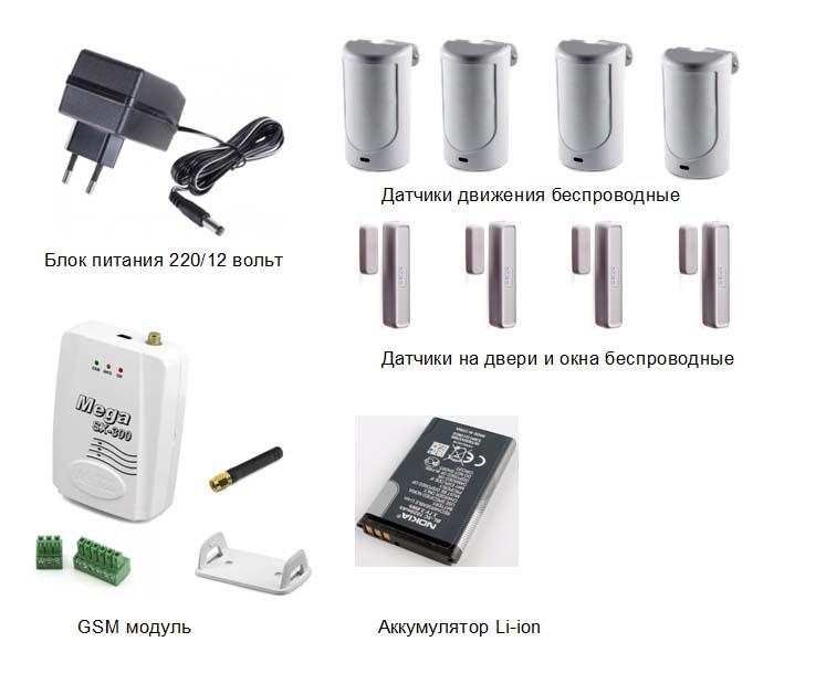 Установка беспроводных сигнализаций для квартиры